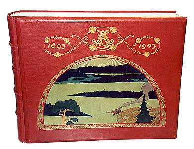 Gift book bound by royal master bookinder Gustaf Hedberg in 1902